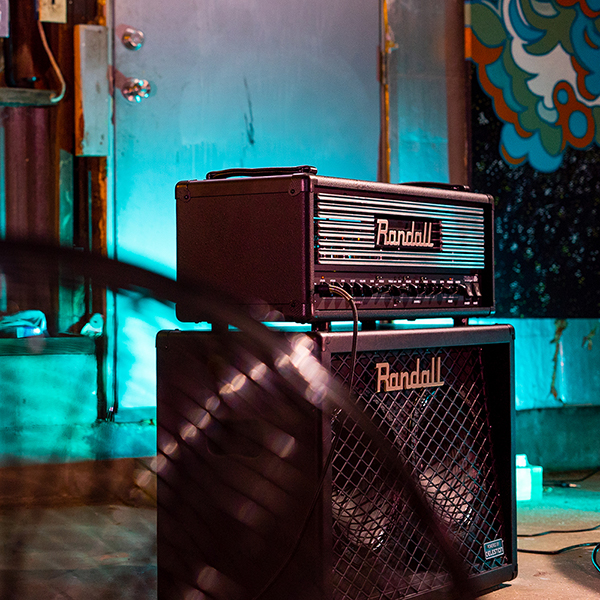 front-side view of Randall amplifier and amplifier head