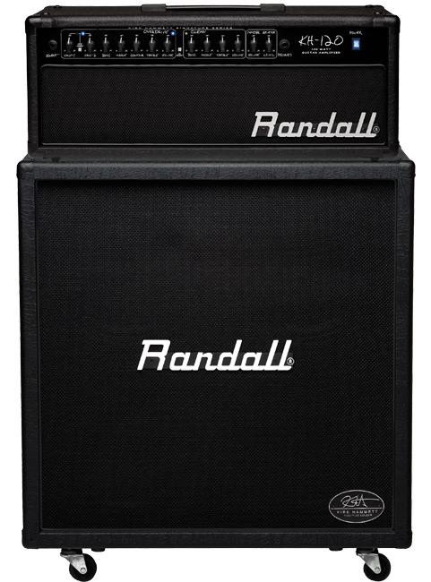 Black Randall Kirk Hammett Signature Series Guitar Half Stack