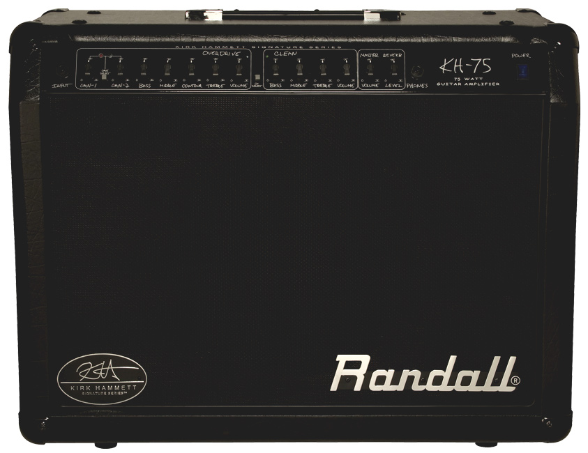 black Randall amplifier from Kirk Hammett Signature Series