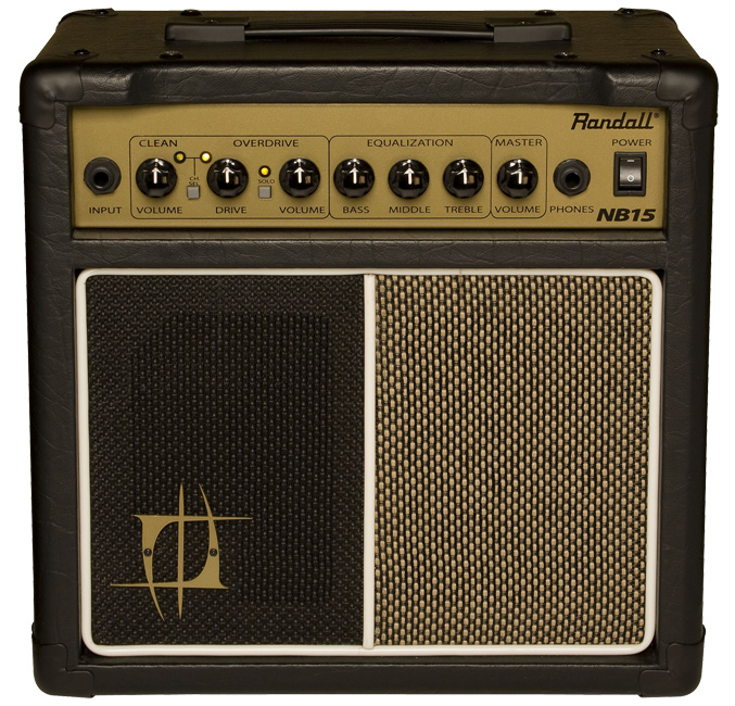 grey and gold Randall amplifier