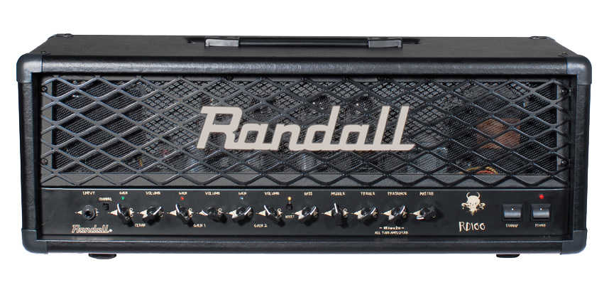 black Randall amplifier head